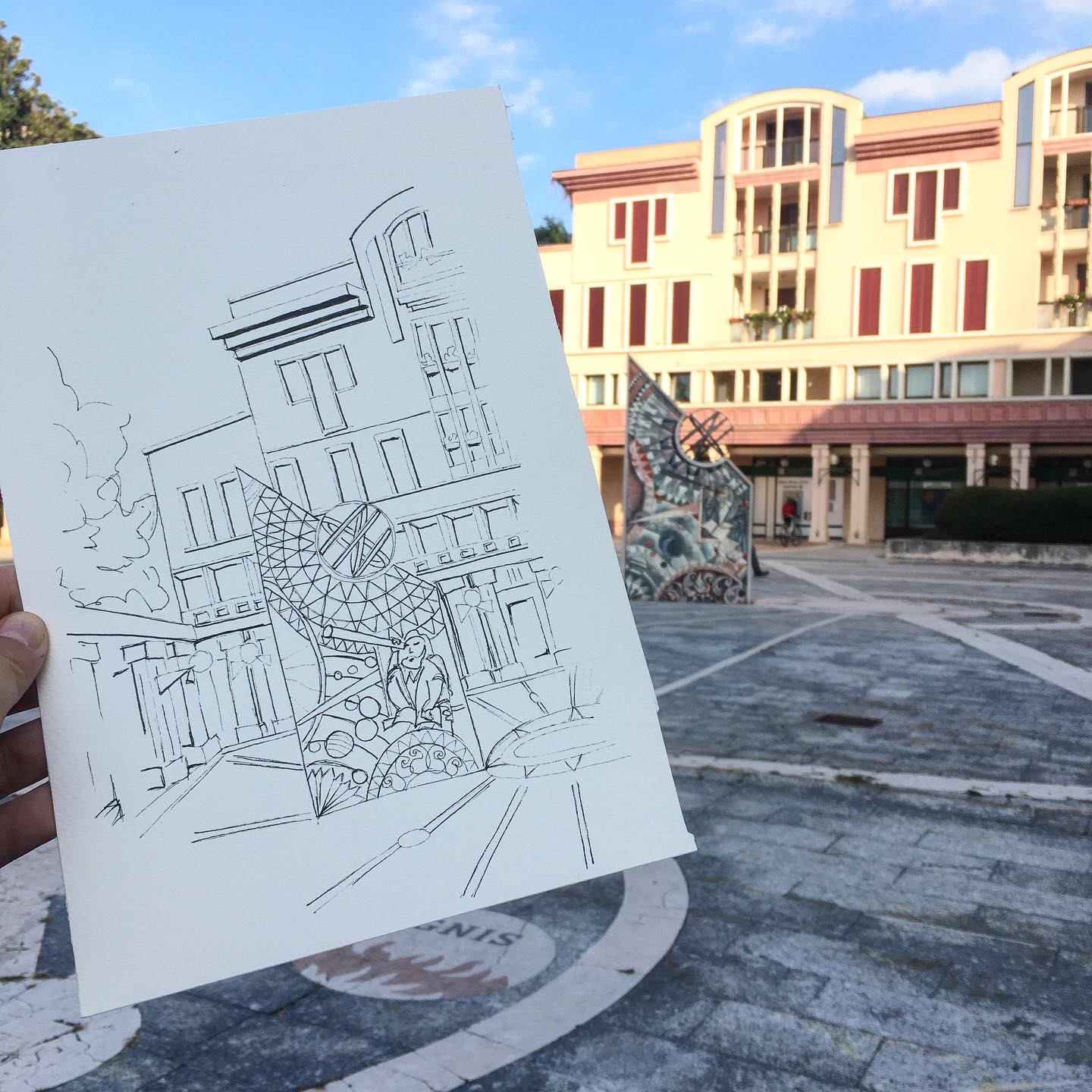 Sun and Peace Square in Abano Terme