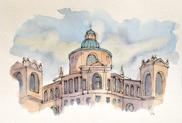 Painting the Saint Luke Church on Bologna's Hills