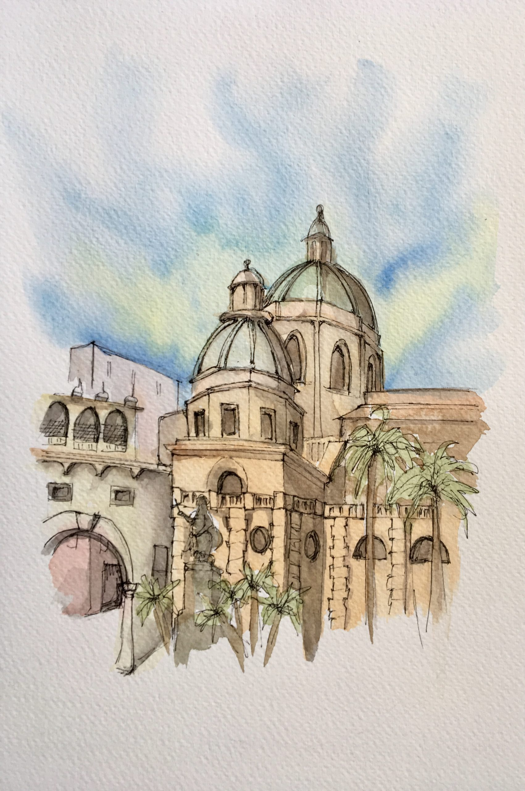 Painting of Cathedral of Mazara del Vallo