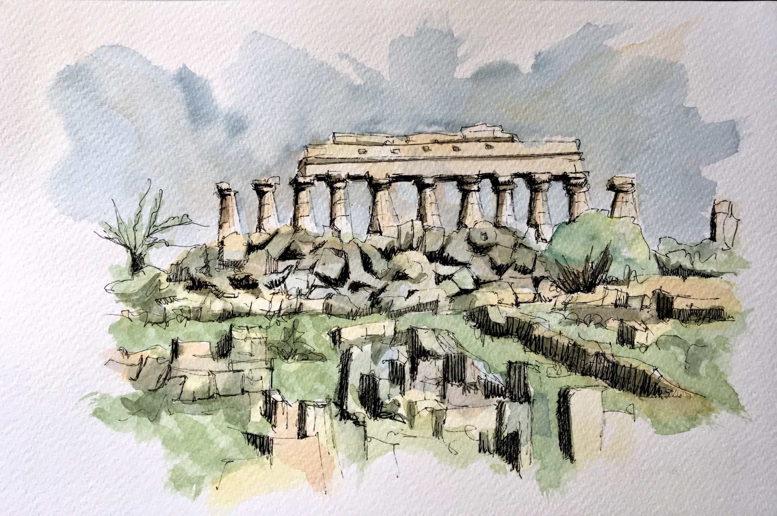 Painting The Greek Temples in Selinunte
