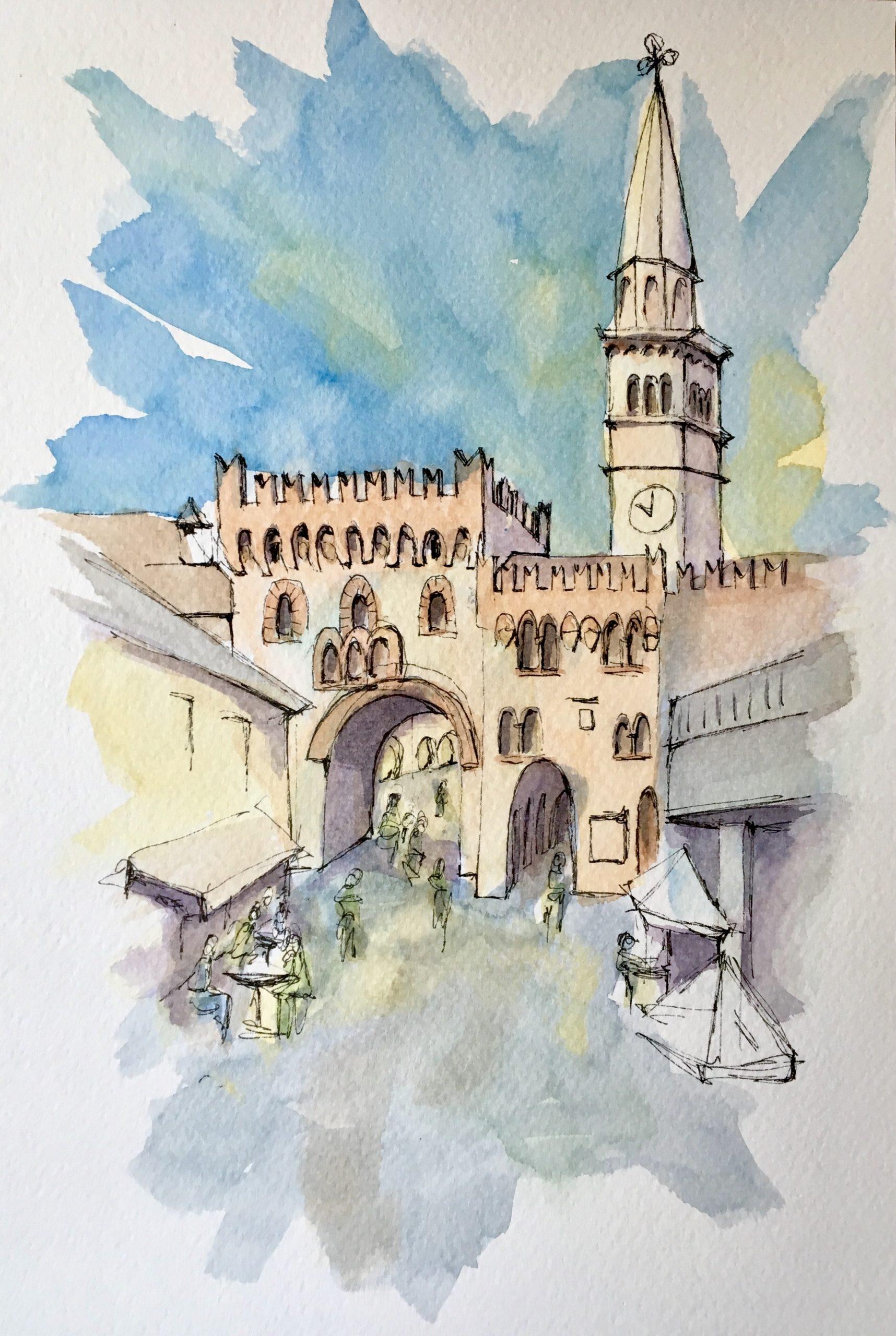 Painting of San Vito al Tagliamento Ancient Wall Gate