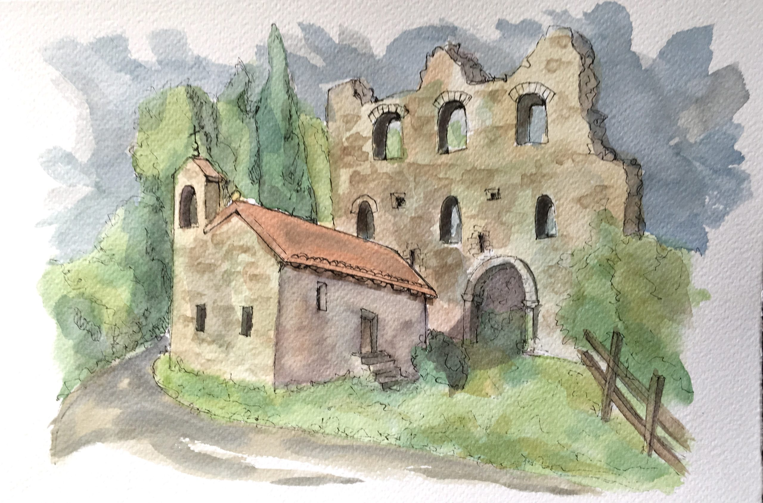 Painting of The Castle in Maniago