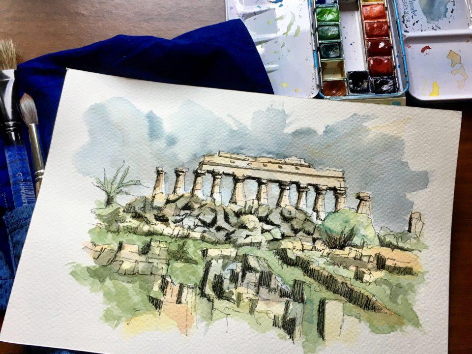 The Greek Temples in Selinunte in Sicily