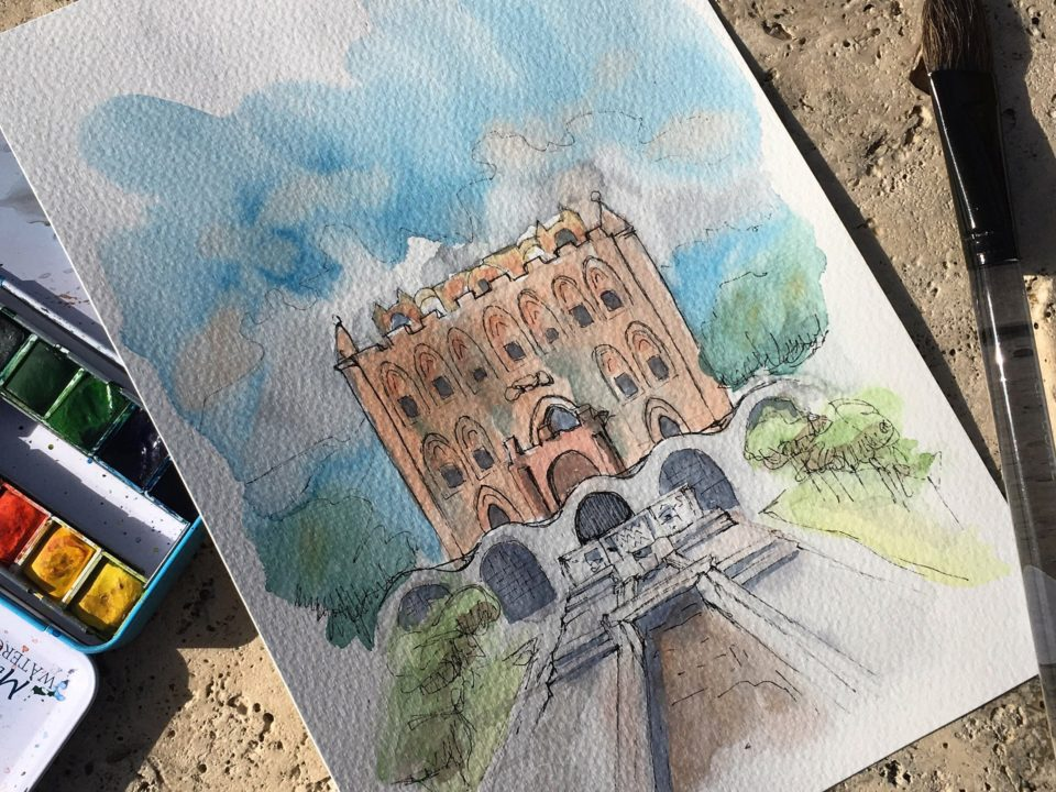 The Zisa Castle in Palermo