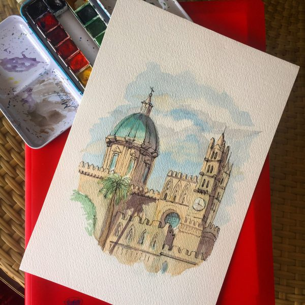 Painting of the Palermo's Cathedral