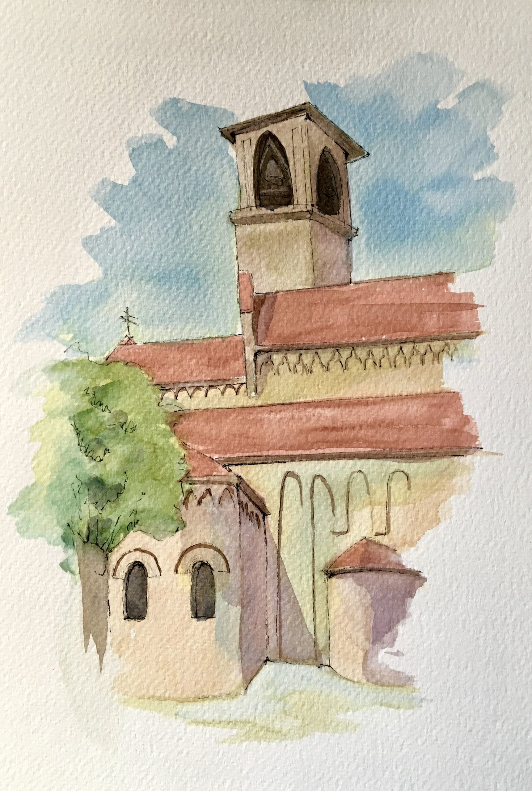 Painting of the Cathedral of S. Maria Maggiore in Spilimbergo