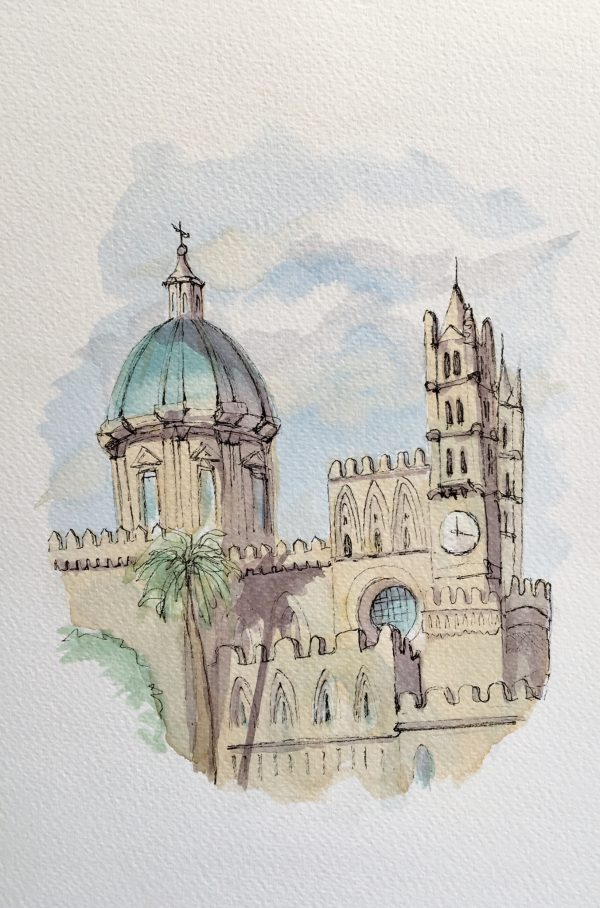 Palermo Cathedral view