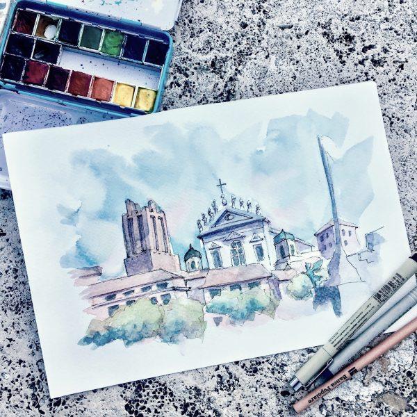 Rome Landscape painting