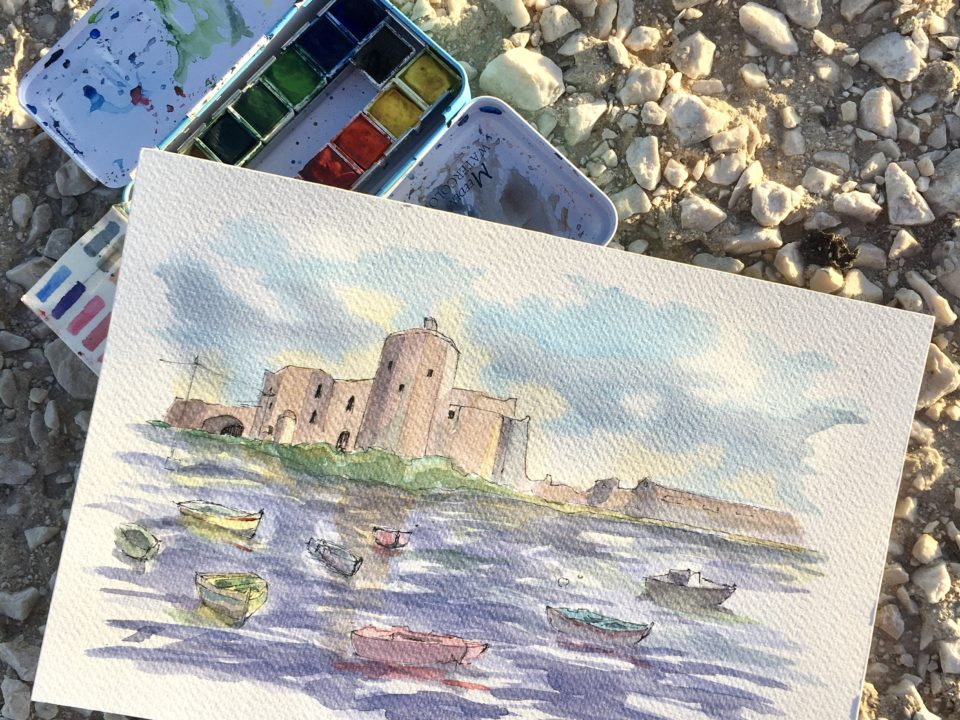 The Castle of Colombaia of Trapani in Sicily