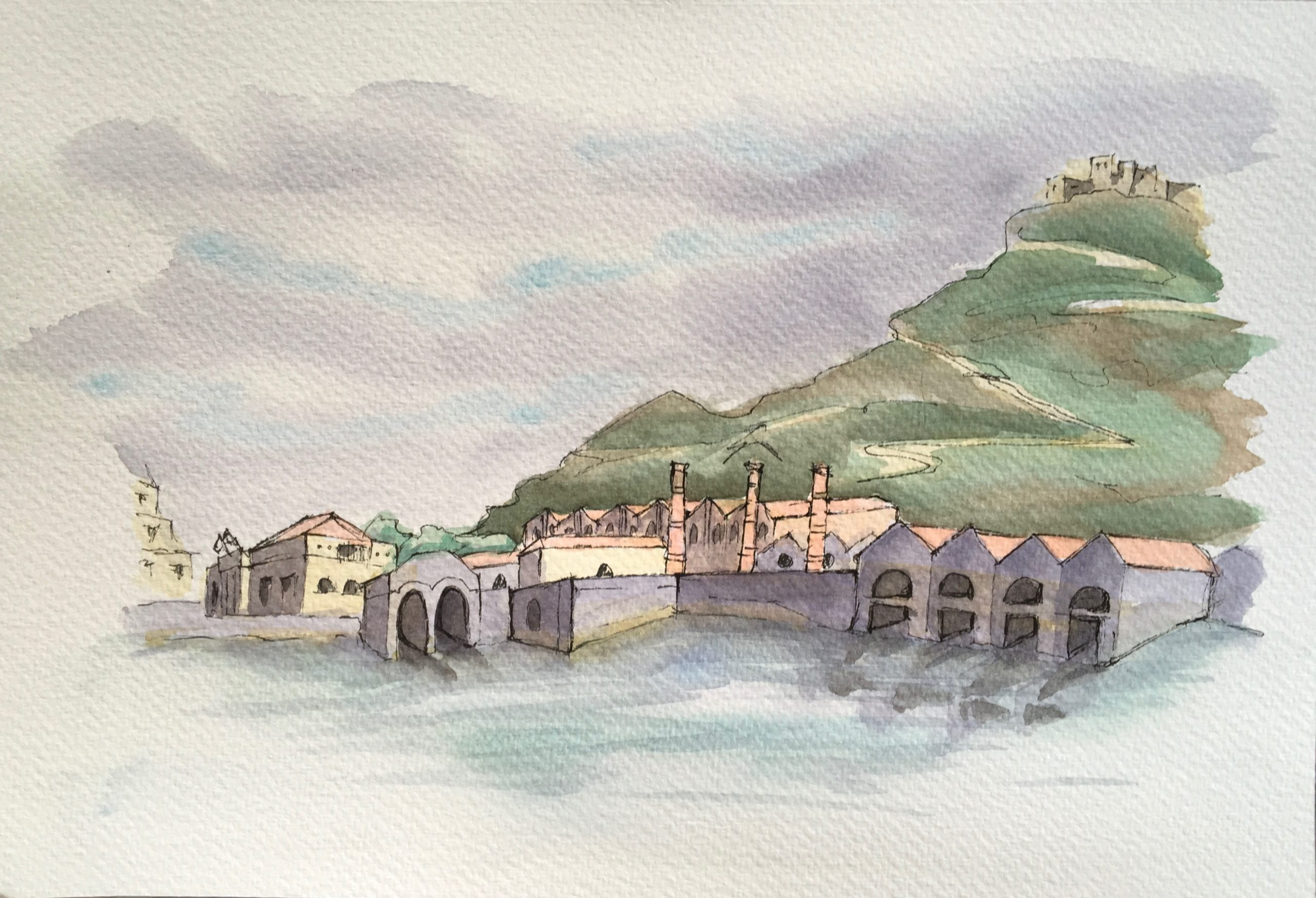 Painting of Favignana Tonnare