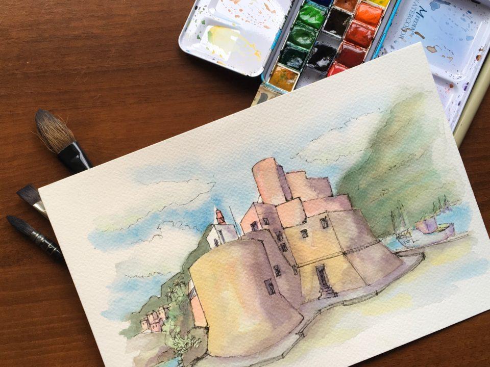 The castle of Castellammare del Golfo