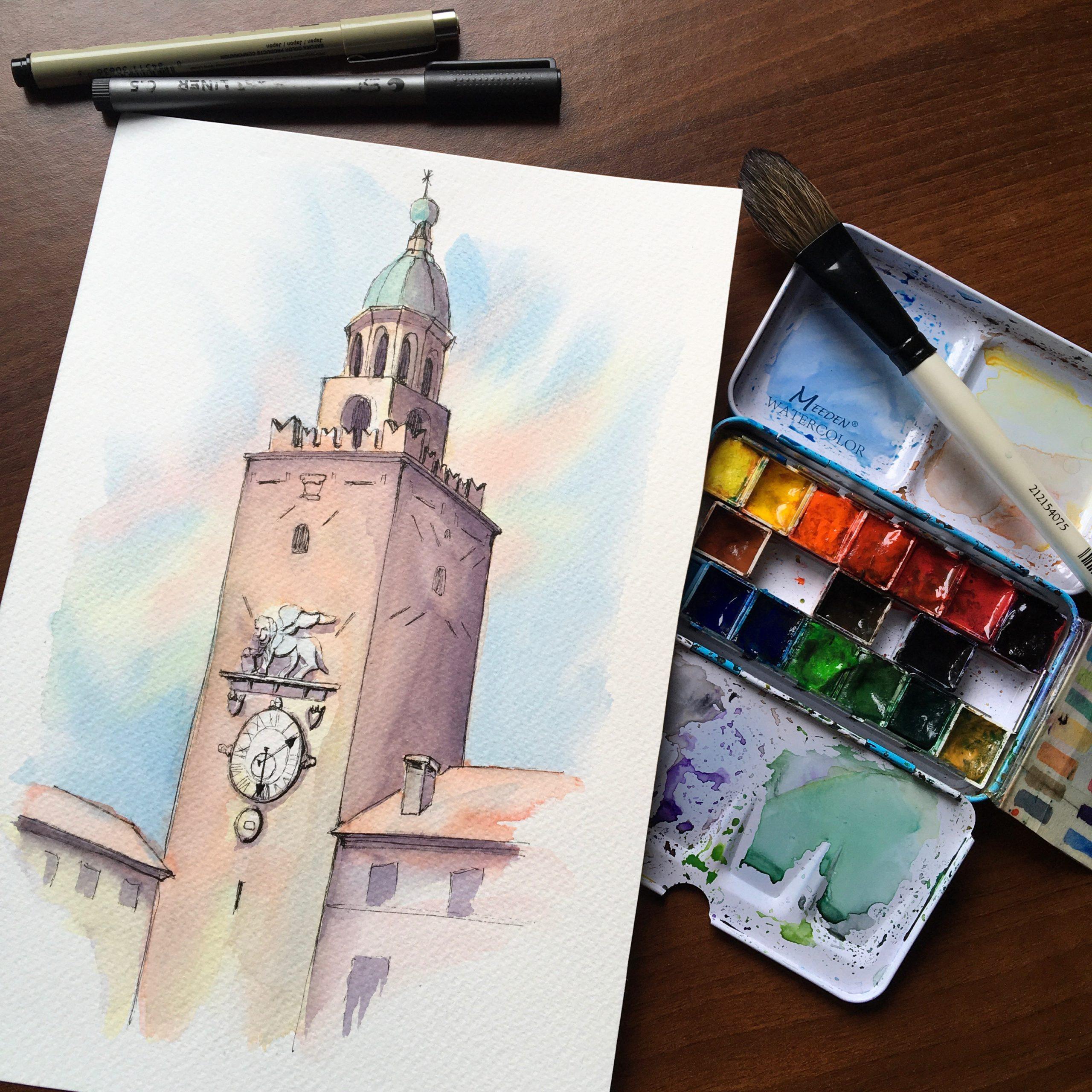 Castle Tower at Castelfranco Veneto