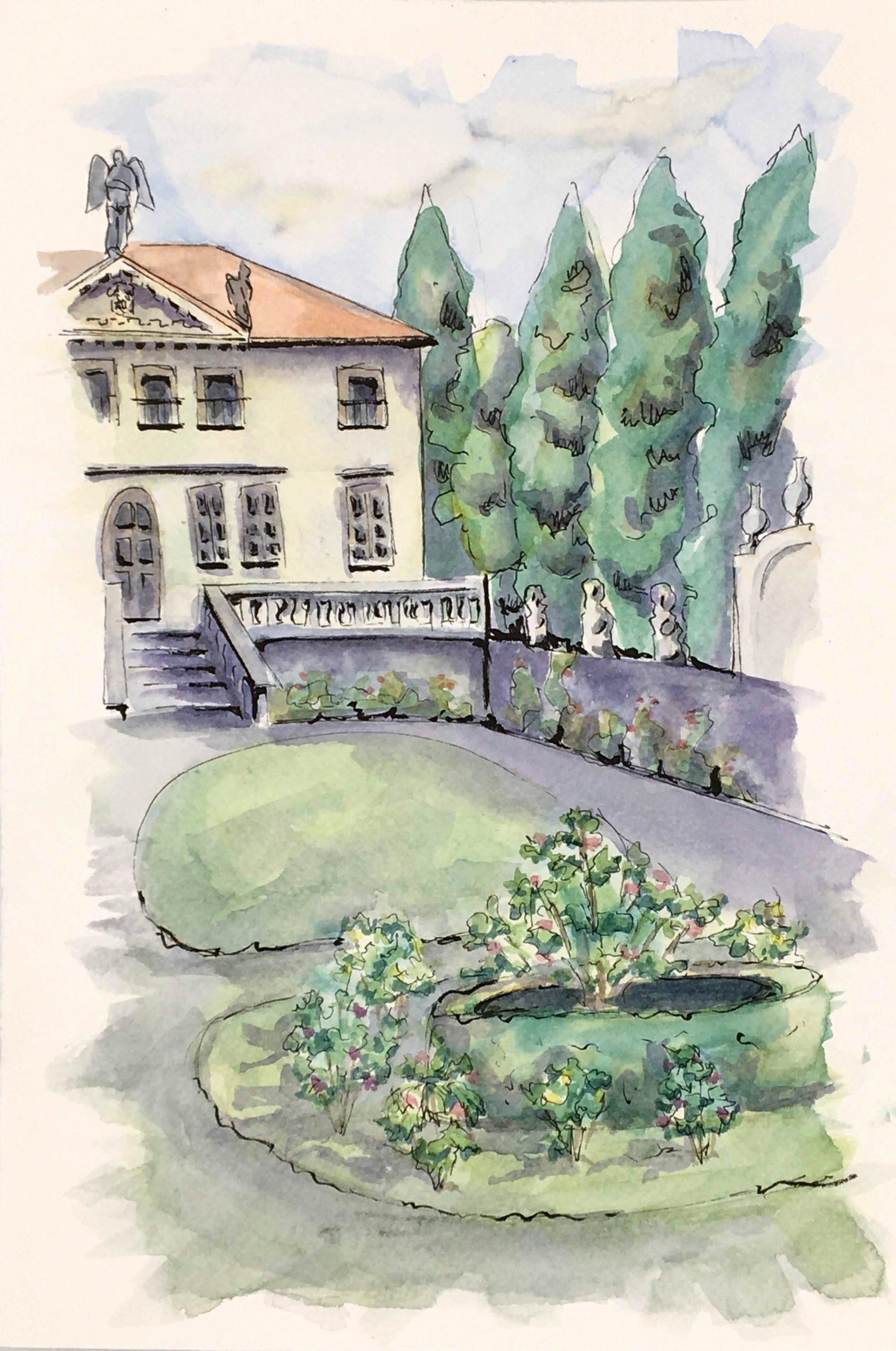 Painting of Villa Valmarana ai Nani near Vicenza