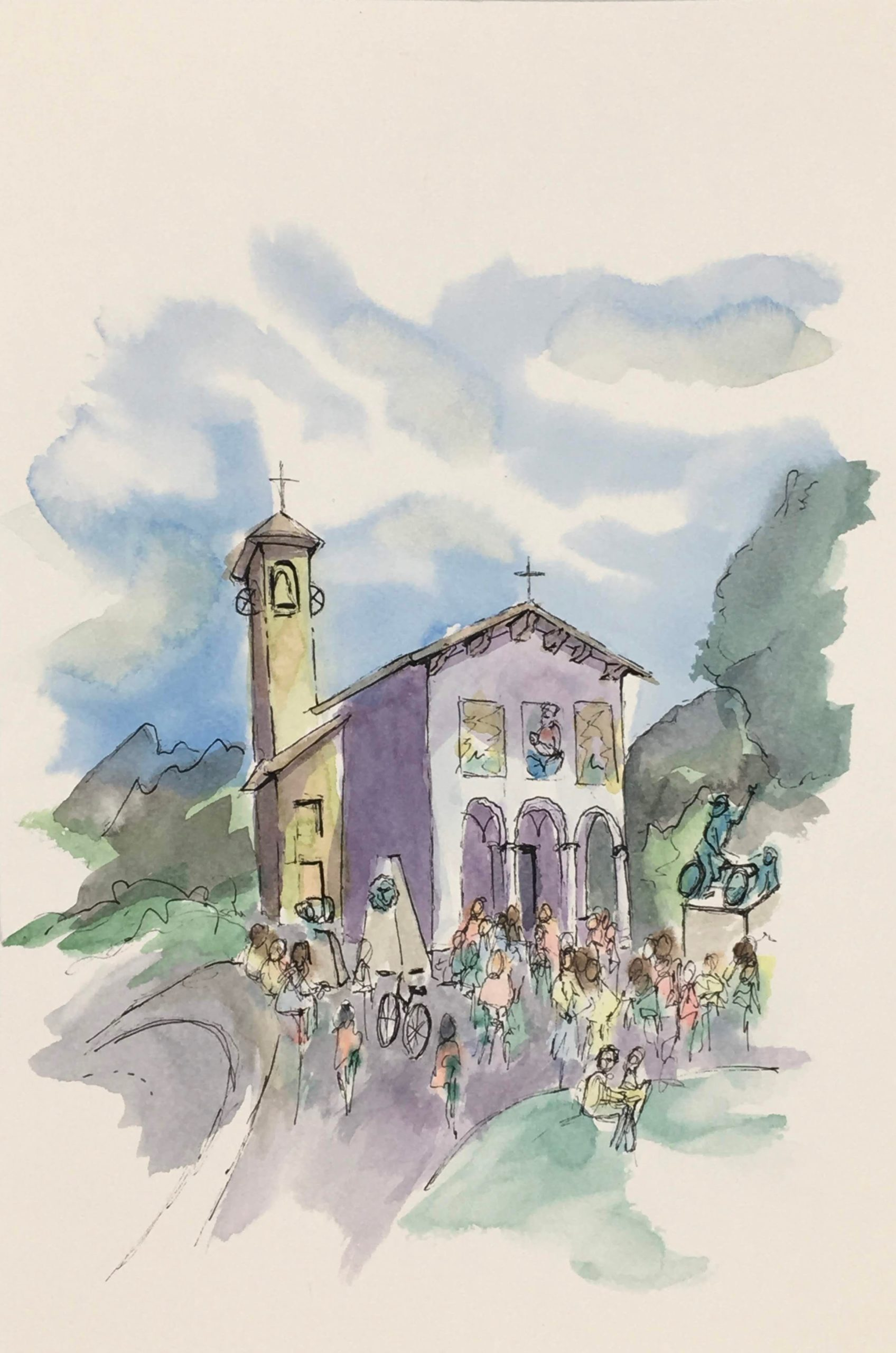 Painting of the Sanctuary of Madonna del Ghisallo