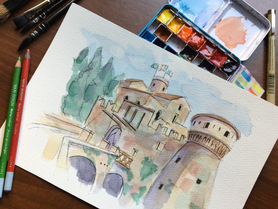 The Medieval Castle of Brescia