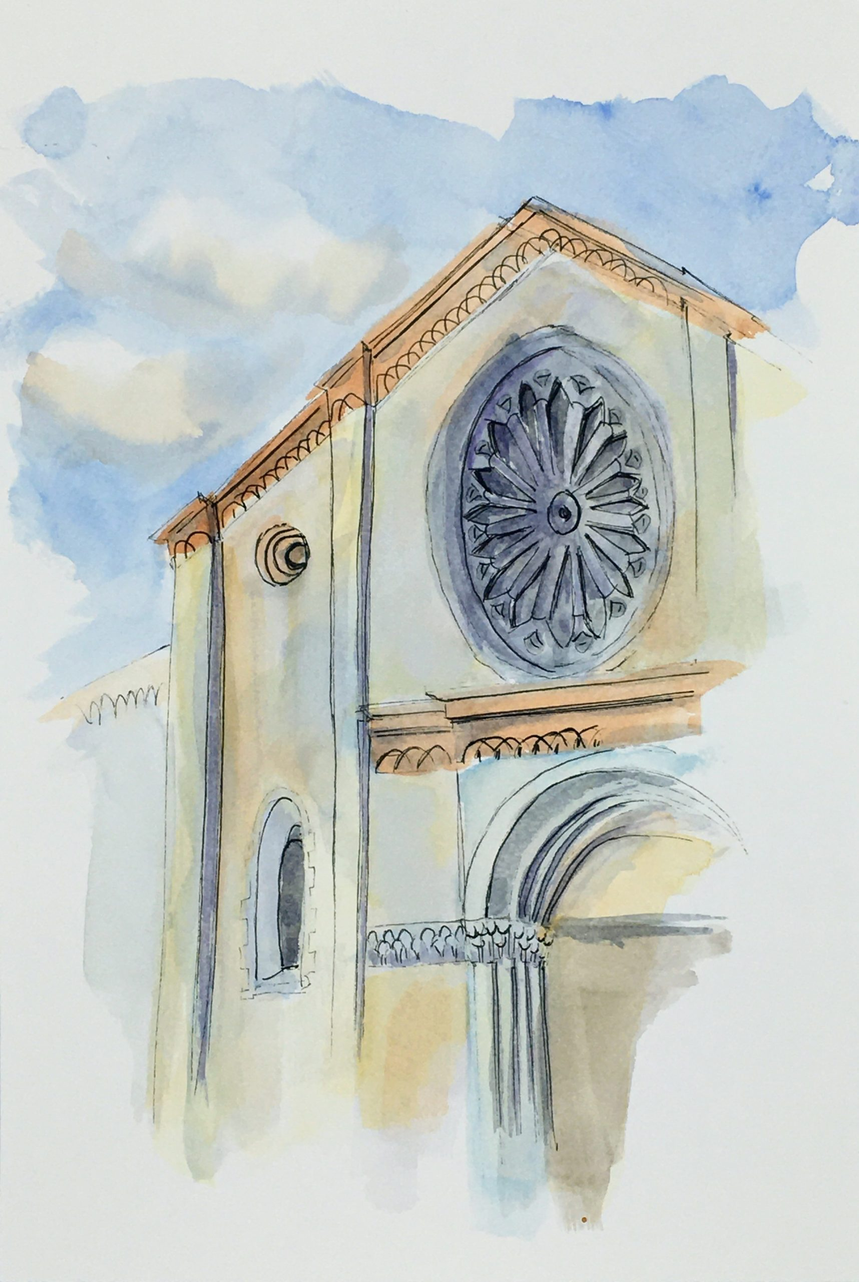 Painting of the Church of San Francesco d'Assisi in Brescia