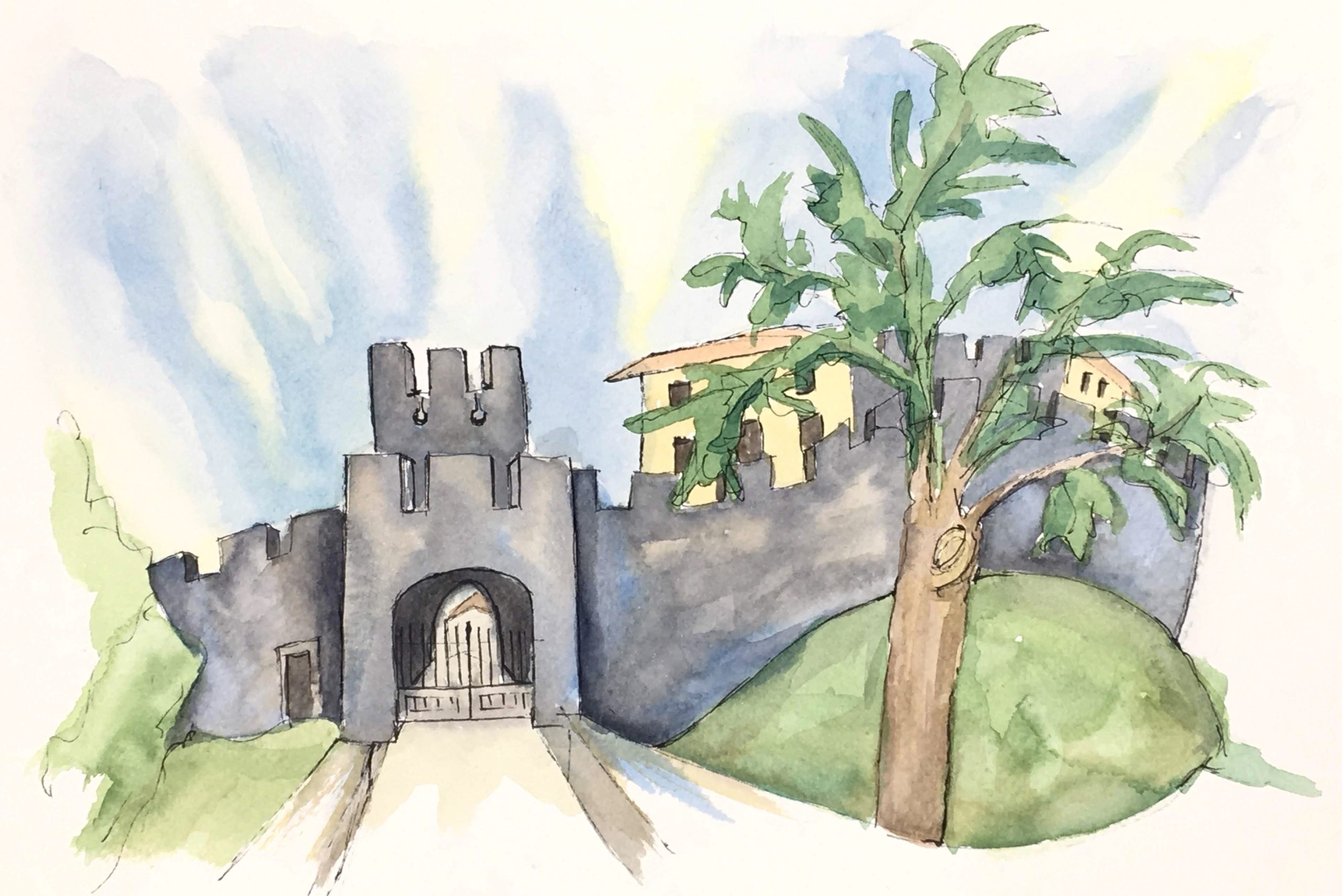 Painting of The castle of Arcano di Sopra