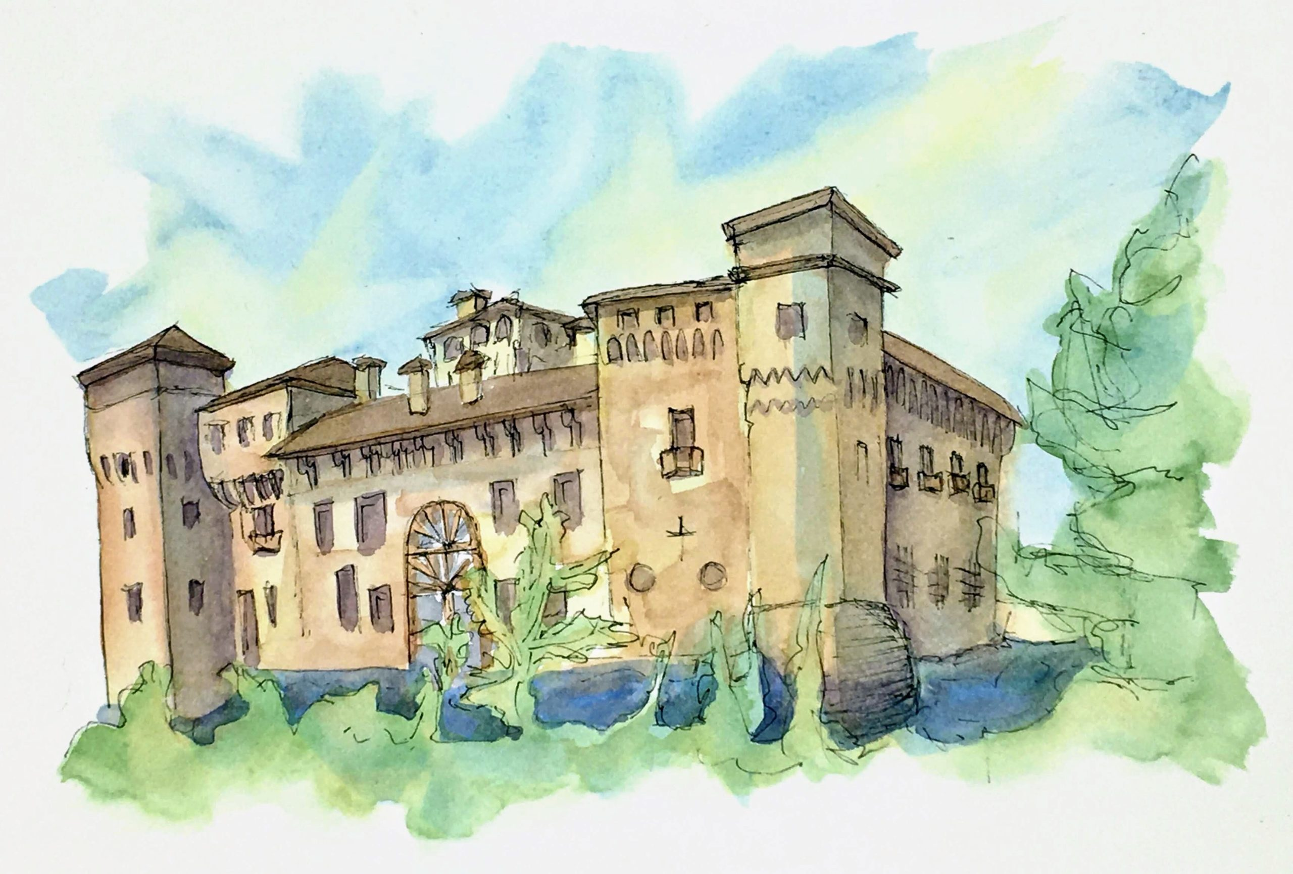 Painting of the Castle of Padernello