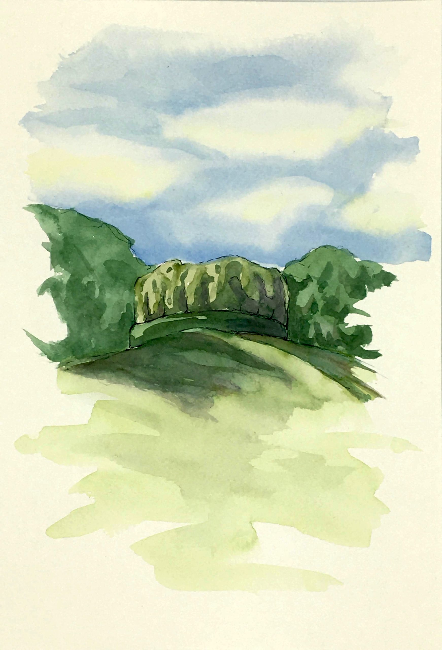 Painting of a view of the Roccoli near Gemona
