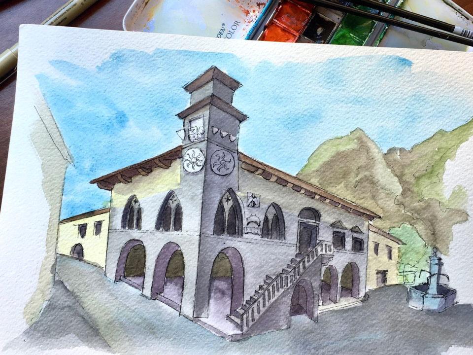 The gothic City Hall of Venzone