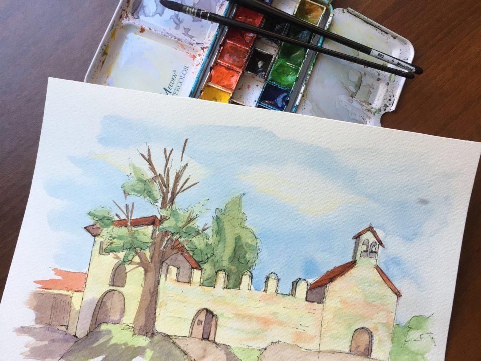 The walls of the Pilgrim Hospital in Majano