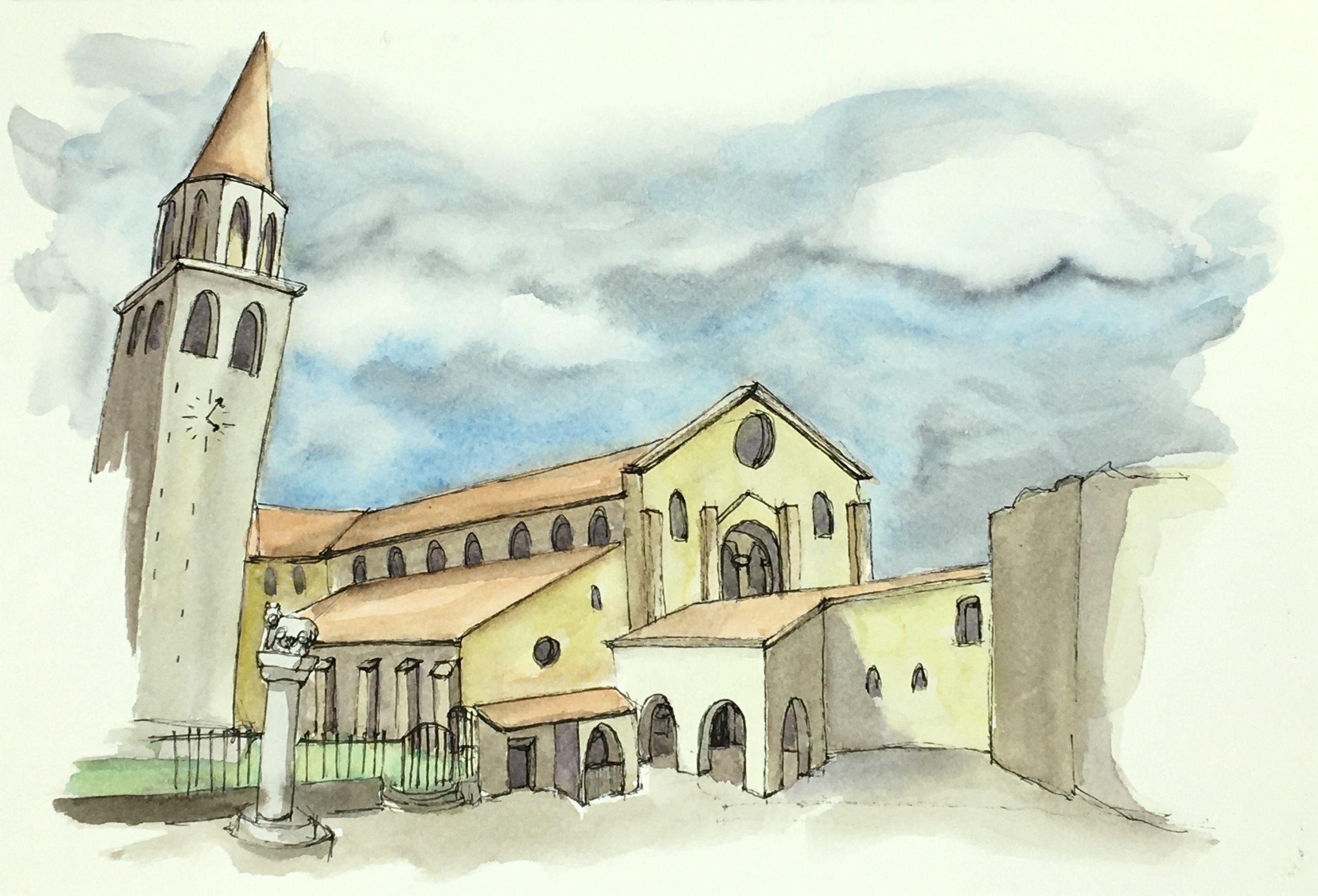 Painting The Basilica of Santa Maria Assunta in Aquileia
