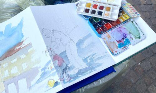 Chiara Go Arts Sketchbook making
