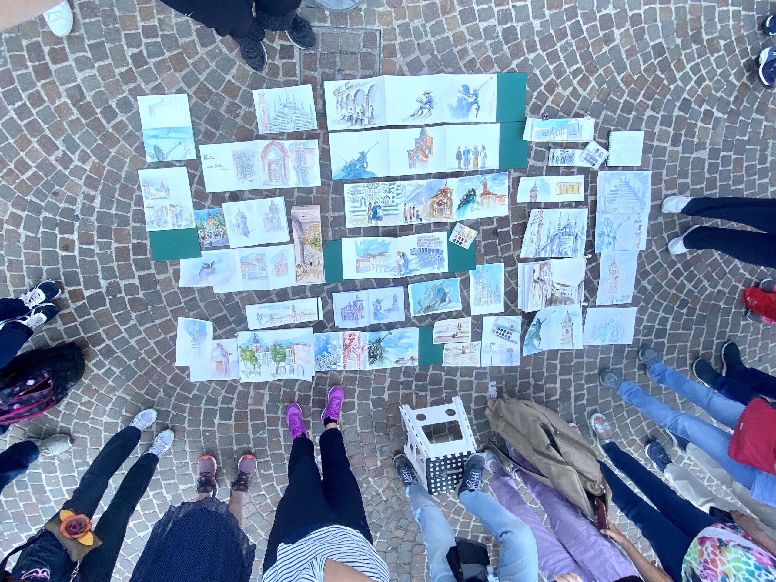 Sketches by the group in Monza