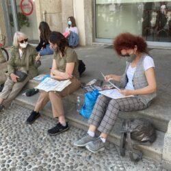 Urban Sketching Monza on the street 4