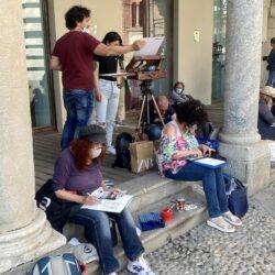 Urban Sketching Monza on the street 3