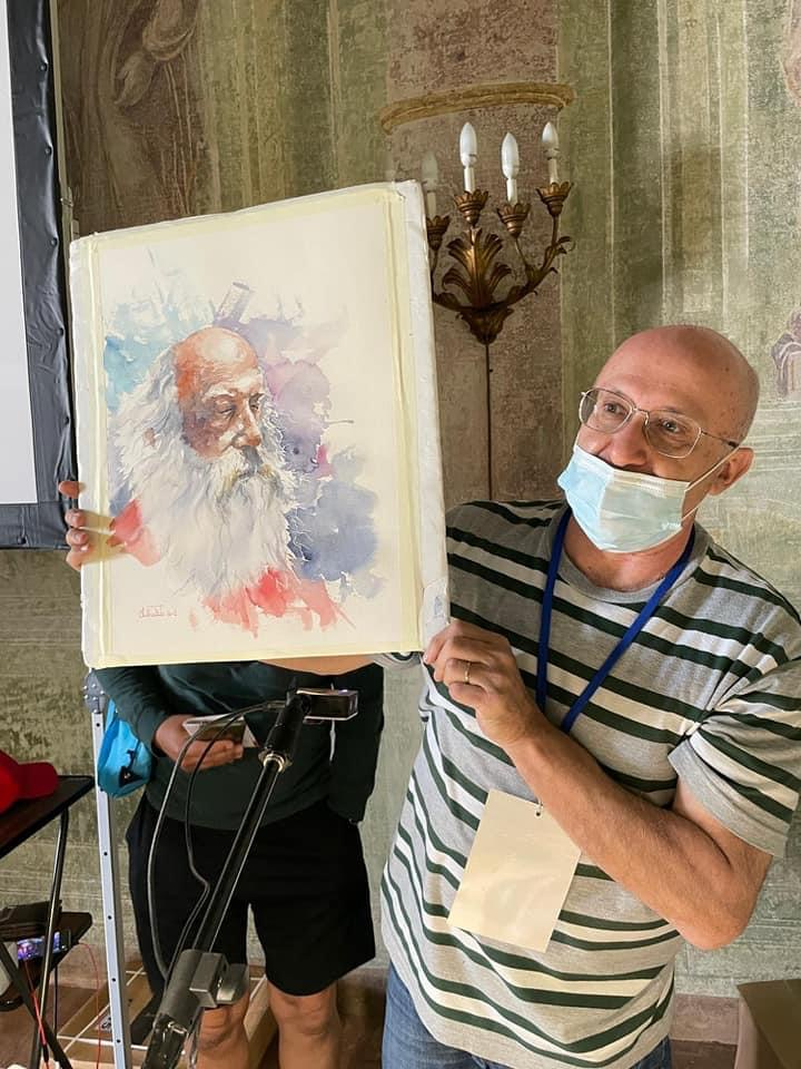 Valerio Libralato Demo in Monza in Acquarello
