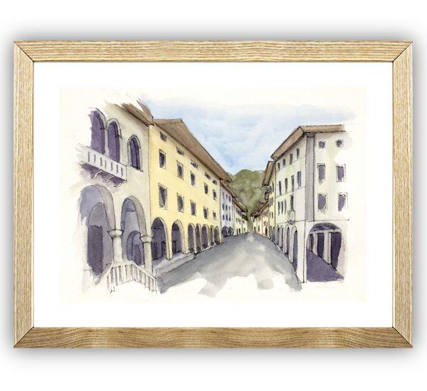 Gemona del Friuli framed in wood