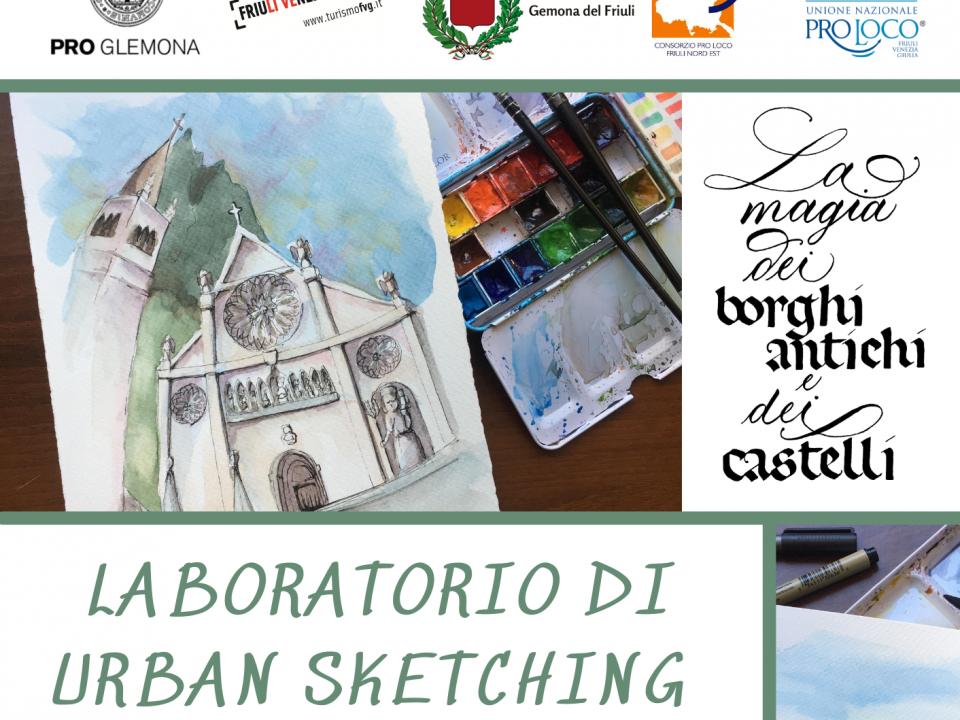 Laboratori di Urban Sketching in Friuli